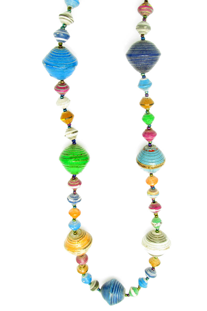 Multi-color gigantic bead necklace
